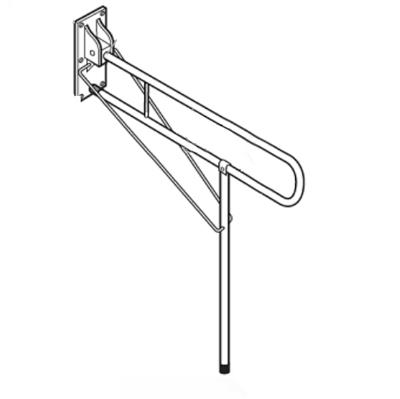 Barre d'appui rabattable pour wc BA 01 925 - Barre d'app...