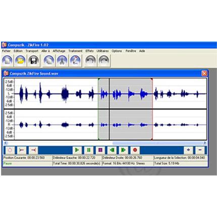 Zikfire - Logiciel multimédia (son, vidéo)...