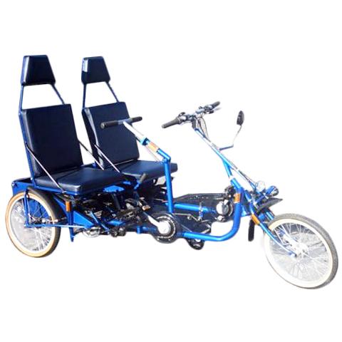 Duo - Tricycle à deux roues arrière propulse par les pie...