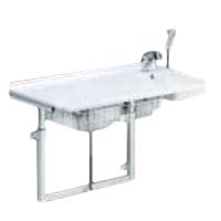 Table à langer avec lavabo R8732 - Table de douche à hau...