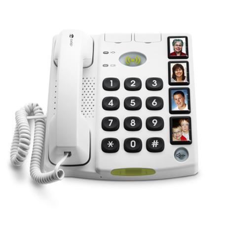 Doro Secure 347 - Téléphone fixe à touches larges...