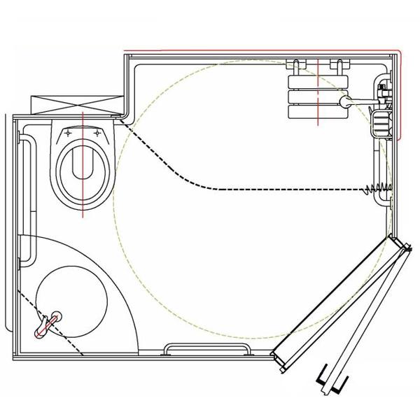 Divonne - Cabine intégrale wc/toilettes...