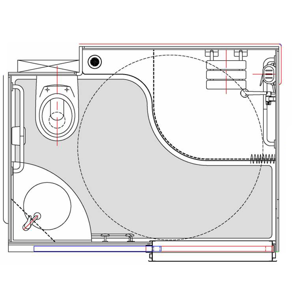 Barèges - Cabine intégrale wc/toilettes...