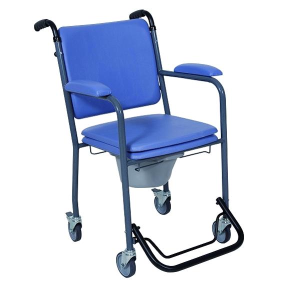 GR 30 - Chaise percée à roulettes...