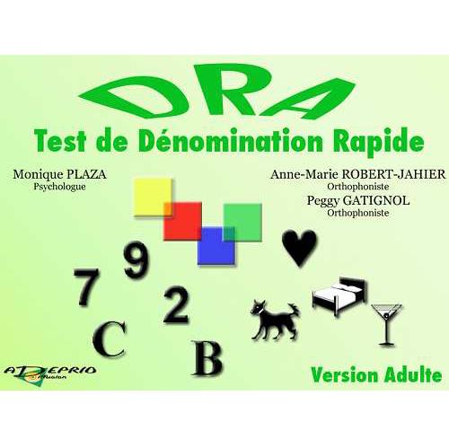 DRA Test de dénomination rapide - Logiciel de rééducatio...