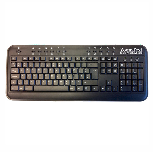 Clavier agrandi Zoomtext - Clavier a touches larges / ag...