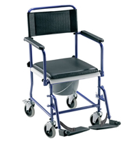 Chaise de toilette à roulettes - Chaise percée à roulett...