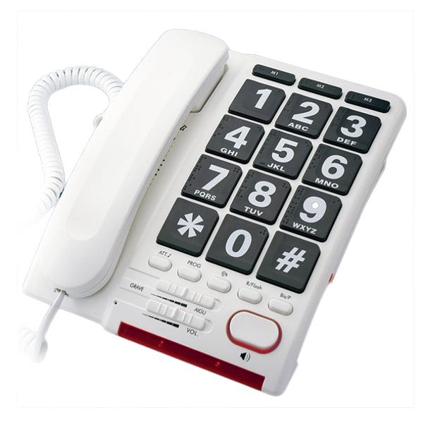 HD Max - Téléphone fixe à touches larges...