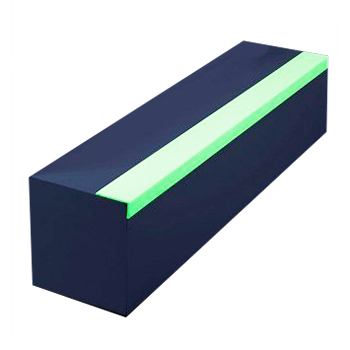 Bord de marche super agrippant photoluminescent - Revête...