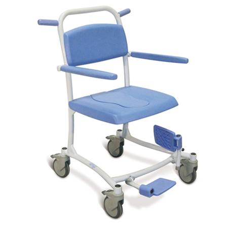 Tango - Fauteuil de douche à siège percé à petite roues...