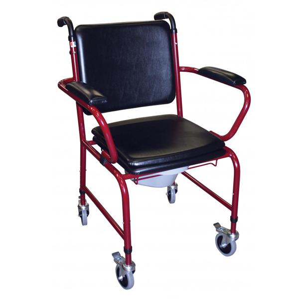 GR 171/172 - Chaise percée à roulettes...