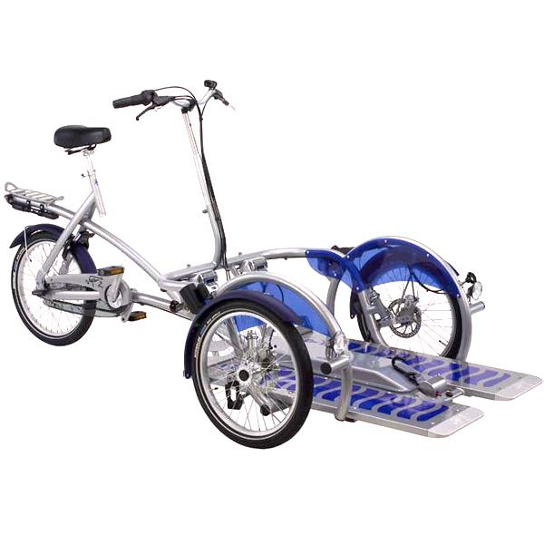 Porte fauteuil Vélo plus 3 - Cycle pour pousser ou tirer...