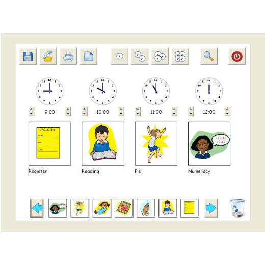 Visual timetable - Logiciel d'apprentissage...