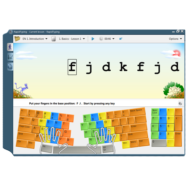 Touch typing tutor - Logiciel d'apprentissage...