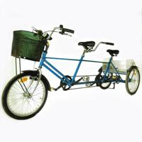 Tricycle Tandem - Tricycle à deux roues arrière propulse...