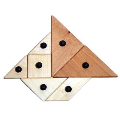 Grand tangram en bois 720137 - Jeu de société...