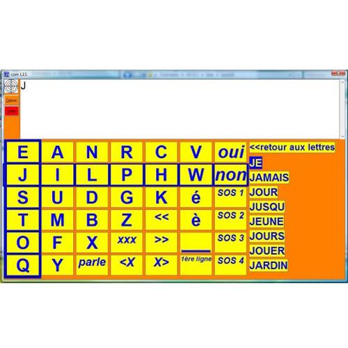 ComLIS - Logiciel de clavier visuel...
