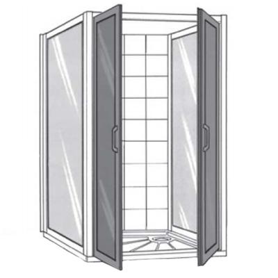Grandes portes pivotantes SP 00 305 - Porte de douche mi...
