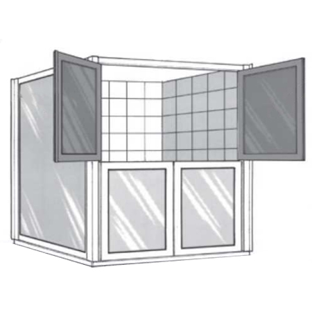 Portes de douche demi-portes pivotantes SP 00 290 - Port...