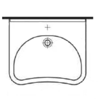 Lavabo ergonomique avec trop plein LA 00 245 - Lavabo ad...