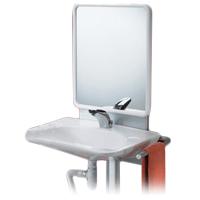 Support lavabo réglable avec miroir 052100 - Lavabo à ha...