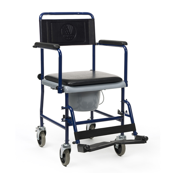 139 E - Chaise percée à roulettes...