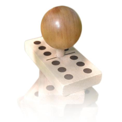 Dominos en bois sur tige 720116 - Jeu de société...