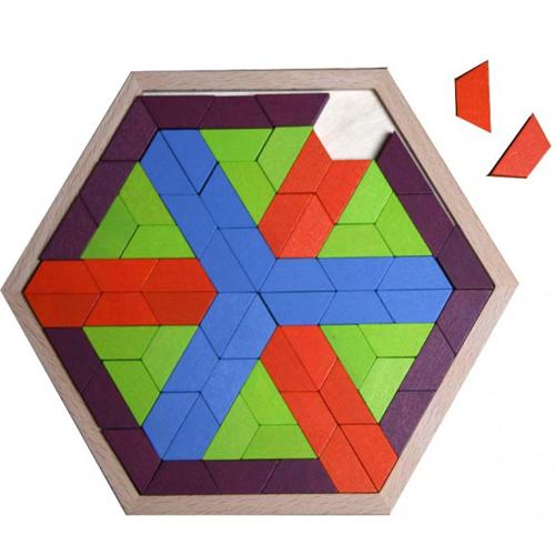 Mosaïque hexagonale petits trapèzes 720103 - Jeu de cons...