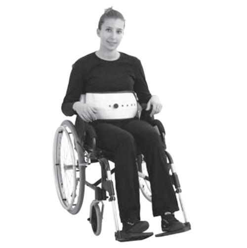 Attache taille simple au fauteuil 4010 - Ceinture de fau...