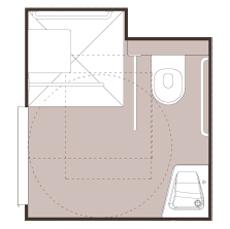 Linéo - Cabine intégrale wc/toilettes...