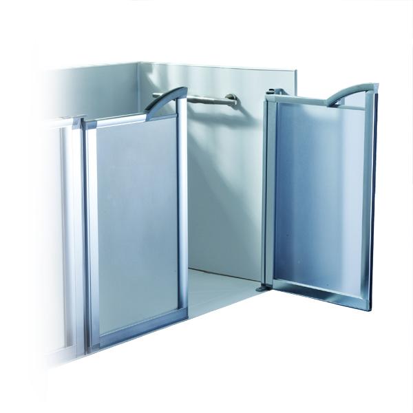 Panneaux muraux - Porte de douche mi-hauteur...