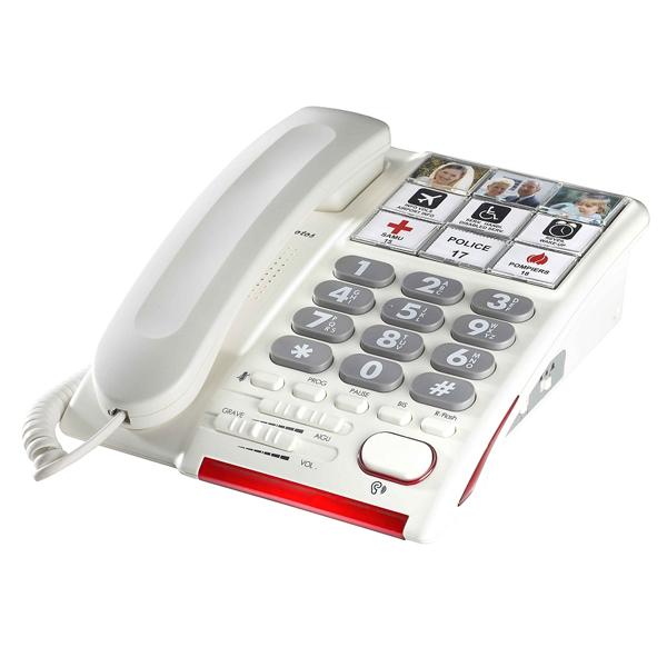 HD Max photos - Téléphone fixe à touches larges...