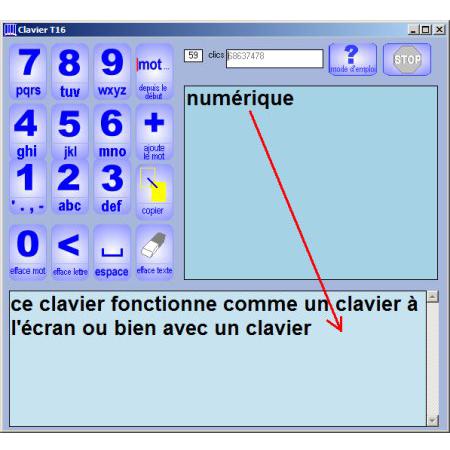 Clavier T16 - Logiciel de clavier visuel...