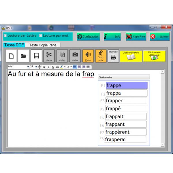Texte Parlant Simple TPS7 - Logiciel de lecture vocale...