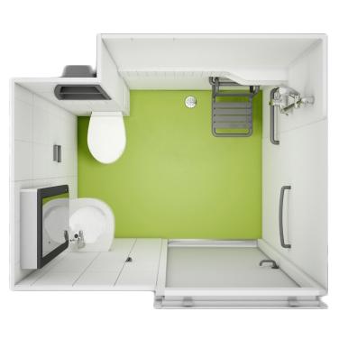 Aléga - Cabine de douche avec wc/toilettes...