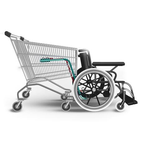 Attelage Handicap Reflex - Fauteuil avec chariot porte-p...