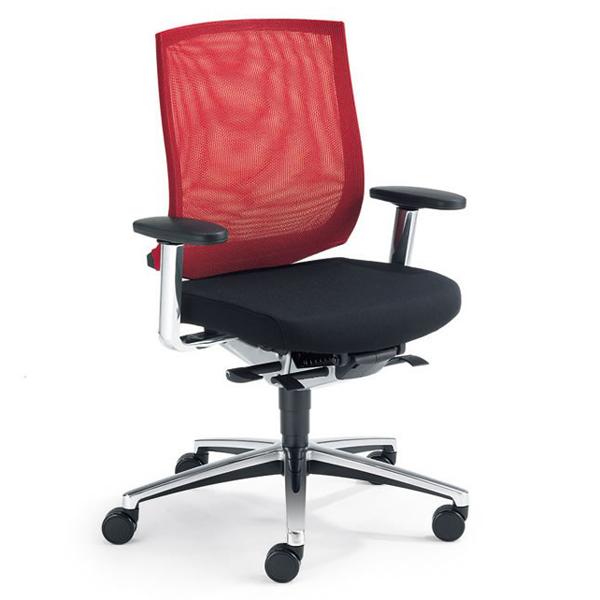 Veo - Chaise de bureau à hauteur variable par vérin à ga...