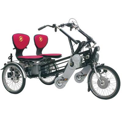 Fun 2 go - Tricycle à deux roues arrière propulse par le...