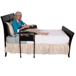 Appui de lit avec plateau pivotant 823065 - Table de lit...