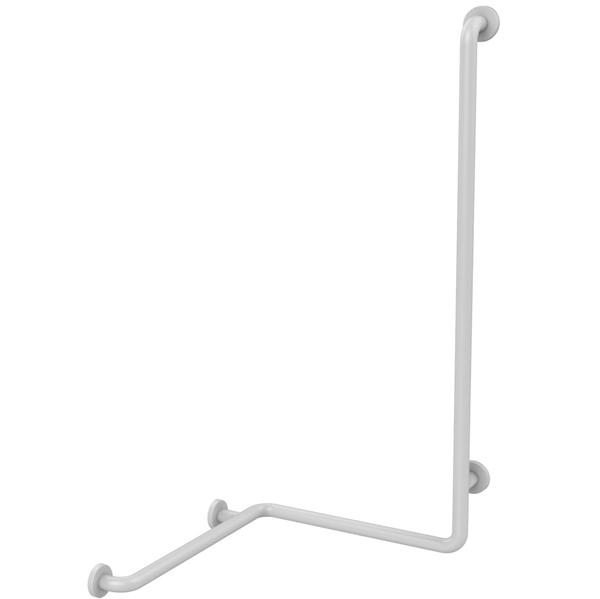 Barre de douche d'angle 60724 - Barre d'appui coudée fix...