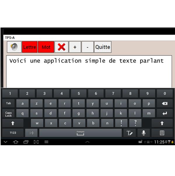 Texte parlant simple Androïd - Logiciel de lecture vocal...