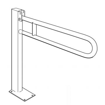 Barre d'appui WC sur colonne BA 01 906 - Barre d'appui s...
