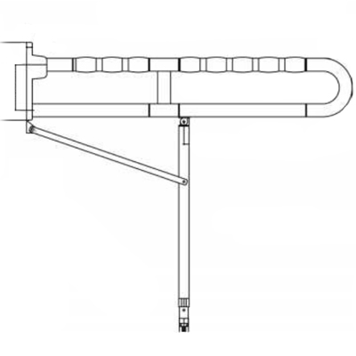 Barre d'appui rabattable pour wc BA 06 140 B - Barre d'a...