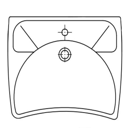 Lavabo ergonomique avec trop plein LA 00 340 - Lavabo ad...