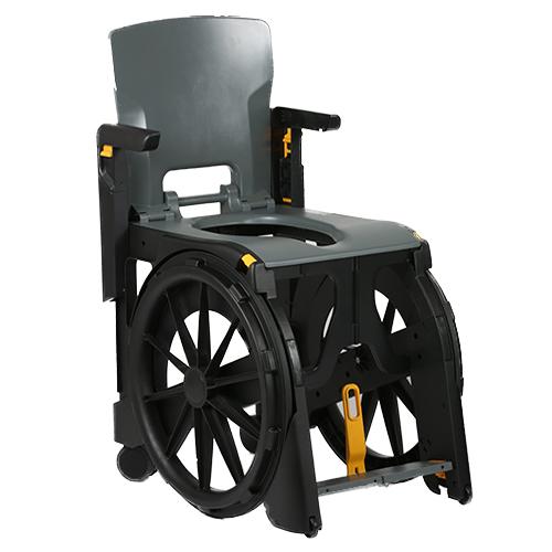 WheelAble - Fauteuil de douche à siège percé à grande ro...