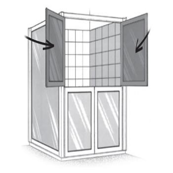 Portes de douche en partie haute SP 00 290 - Porte de do...