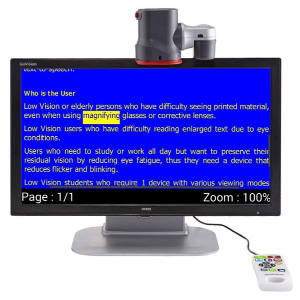 GoVision - Téléagrandisseur avec écran intégré...