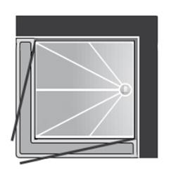 Cabine de douche accès en angle CAA 1205 - Cabine de dou...