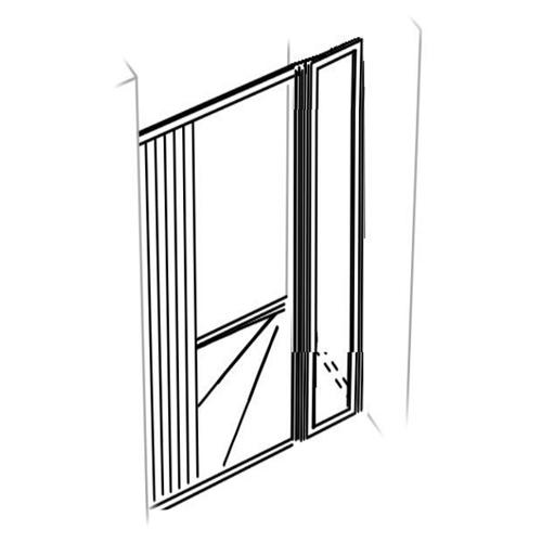 Parois de douche en niche - 1 panneau frontal - PA 03 91...