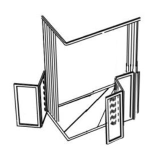 Parois de douche en angle - 3 + 2 panneaux repliables - ...
